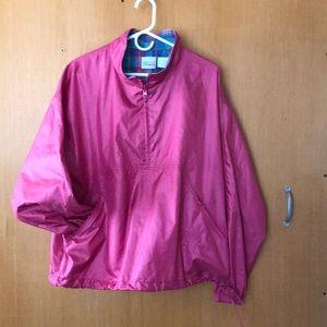Vintage Liz Claiborne Pink Pullover Windbreaker
